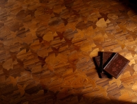 Berti Artistic Parquet: Natural Diorama Laser Inlay with Teak - Berti Wood Flooring
