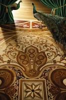 Berti Artistic Parquet: Custom Made Laser Inlay -  Berti Wood Flooring - Inlaid Parquet