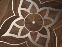 Berti Artistic Parquet: Verlato Marquetry with Walnut and steel inlays - Berti Wood Flooring