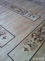 Berti Artistic Parquet: Project in Chechnya - Berti Wood Flooring Laser Inlays.