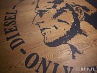 Berti Artistic Parquet: Custom Made Laser Inlay - Berti Wood Flooring