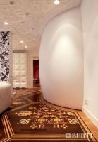 Berti Artistic Parquet: Custom Made Laser Inlay - Berti Wood Flooring - Inlaid Walnut and Oak Parquet