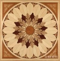 Berti Artistic Parquet: model Tivoli White - Berti Wooden Floors - Inlaid Parquet