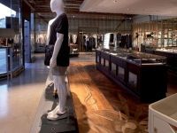 Berti Wood Flooring References: Inlaid Parquet Diesel Store - Parquet with laser inlays