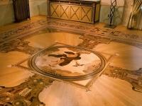 Berti Wood Flooring References: Parquet with inlays - Berti Suite - Villa del Conte