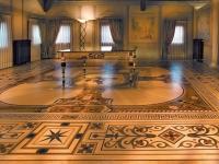 Berti Wood Flooring References: Parquet with laser inlays - Berti Suite - Villa del Conte
