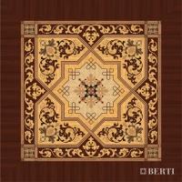 Rendering 2d. Berti Wood Flooring - Inlaid Parquet for a private villa.