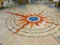 14-Berti Wood Flooring - Parquet Work in progress - Artistic inlaid parquet with resin and Swarovski crystals - detail