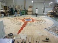 13-Berti Wood Flooring -Parquet Work in progress - Artistic inlaid wooden floor with resin and Swarovski crystals
