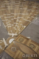 11-Berti Wood Flooring - Work in progress - steel wood inlay