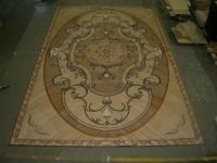 18-Berti Wooden Floor - work in progress - Inlaid parquet with laser