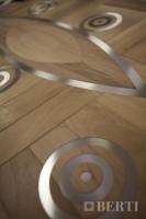 9-Berti Wood Flooring - Work in progress - steel wood inlay
