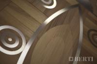 10-Berti Wooden Floor - Work in progress - steel wood inlay