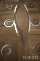 06 - Berti Pavimenti Legno - Work in progress - Parquet artistici intarsi per parquet con acciaio