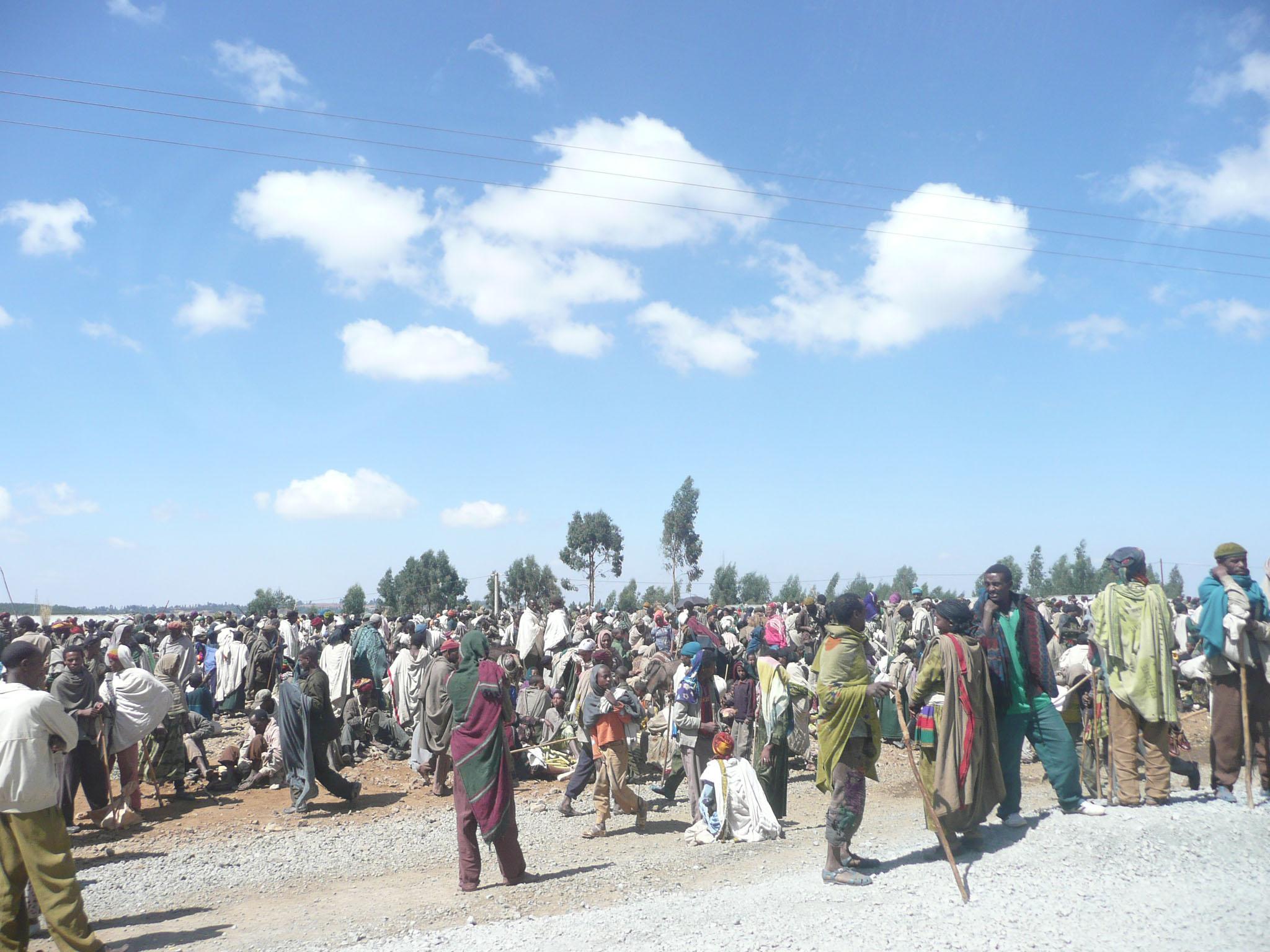 Veduta di un mercato in Etiopia