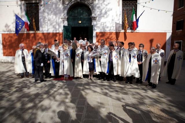 I neo Cavalieri di San Marco dopo la nomina