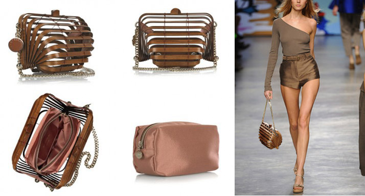 Berti Blog: Stella McCartney Wooden Accordion Clutch Bag