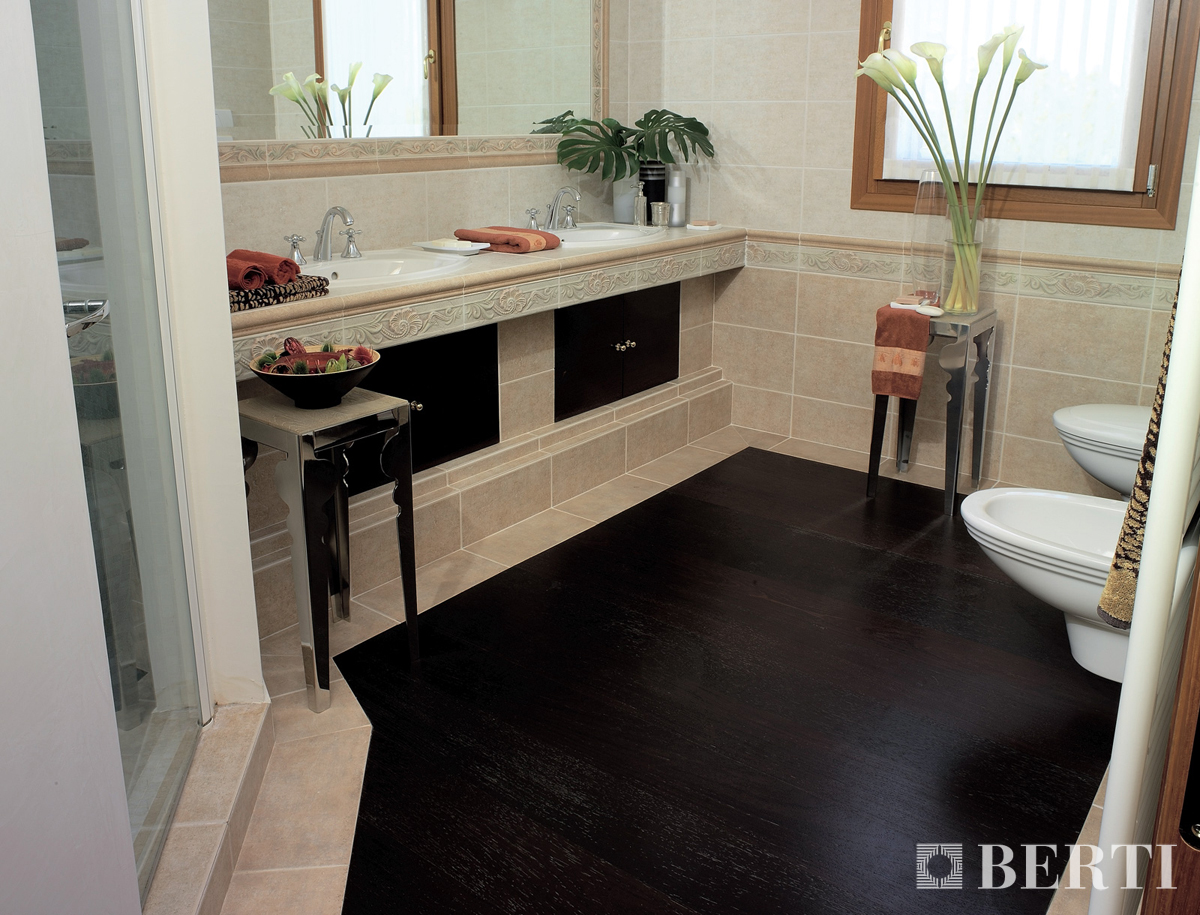 Berti tips can i lay parquet in my bathroom is a wooden for Bagno parquet