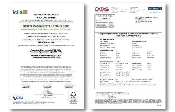 parquet certificato berti pavimenti